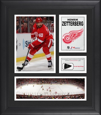 Henrik Zetterberg Detroit Red Wings Framed Collage with Game-Used Puck Piece
