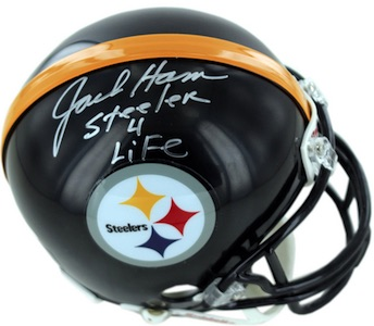 Jack Ham Pittsburgh Steelers Signed Mini Helmet