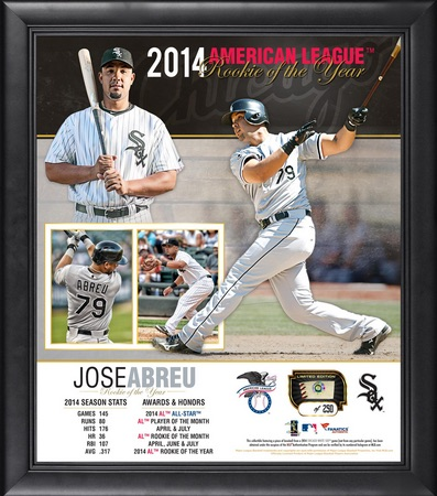 Jose Abreu Chicago White Sox Framed ROY Collage with Game-Used Baseball