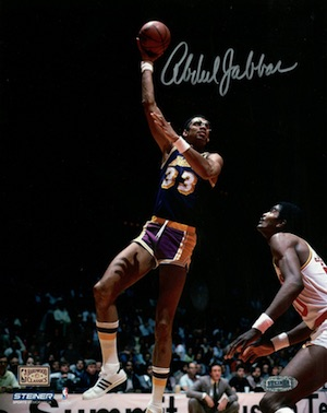 Kareem Abdul-Jabbar Los Angeles Lakers Signed Photograph