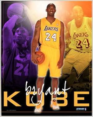 Kobe Bryant Los Angeles Lakers Framed Poster
