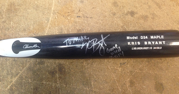 Impromptu Tweet to Kris Bryant Leads to Game-Used Bat and Other Acts of Kindness 1