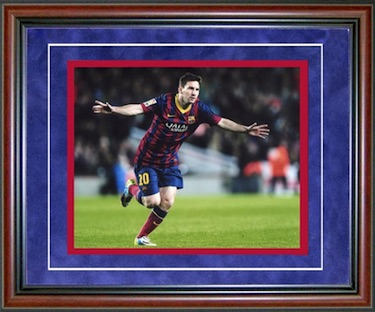 Lionel Messi FC Barcelona Framed Photo