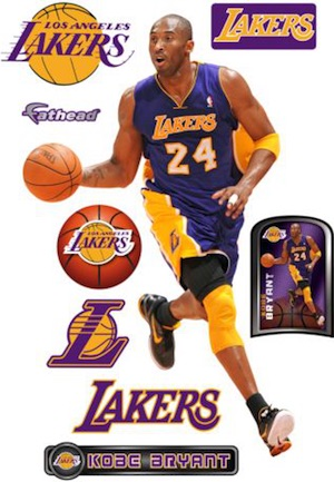 Los Angeles Lakers Fathead Kobe Bryant