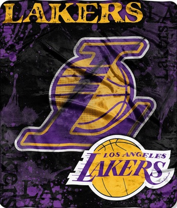 Los Angeles Lakers Fleece Blanket Throw