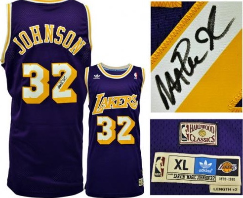 Magic Johnson Los Angeles Lakers Signed Jersey