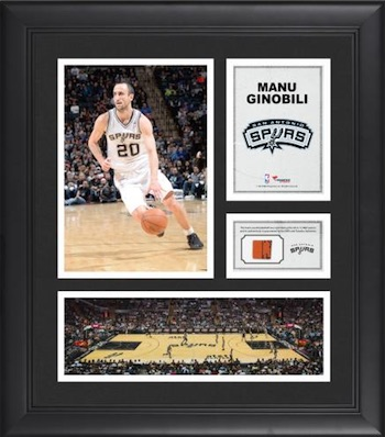 Manu Ginobli San Antonio Spurs Framed Collage with Game-Used Basketball