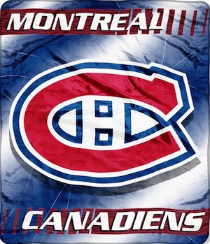 Montreal Canadiens Fleece Blanket Throw