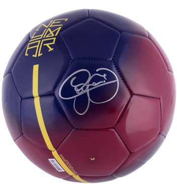 Neymar FC Barcelona Signed Ball