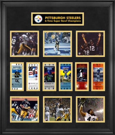 Pittsburgh Steelers Framed Replica Super Bowl Ticket Collage