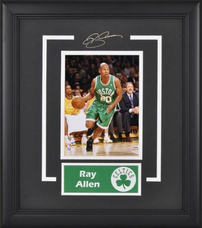 Ray Allen Boston Celtics Framed Photograph with Nameplate