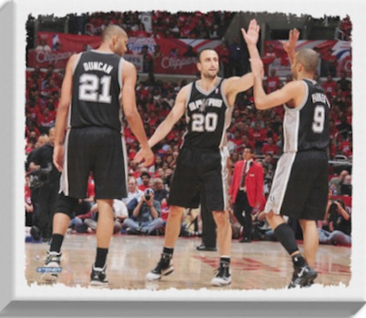 San Antonio Spurs Big Three Canvas Print