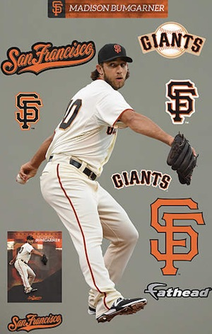 San Francisco Giants Fathead Madison Bumgarner