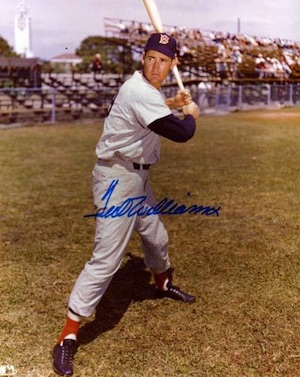 Ted Williams Boston Red Sox Signed Photo