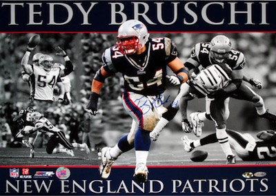 Tedy Bruschi New England Patriots Signed Photo
