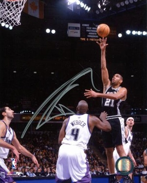 Tim Duncan San Antonio Spurs Signed Photo