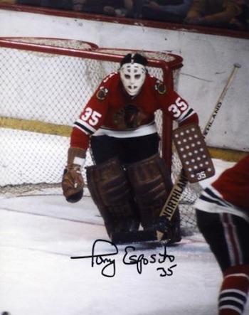 Tony Esposito Chicago Blackhawks Signed Photo