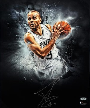 Tony Parker San Antonio Spurs Signed Photo