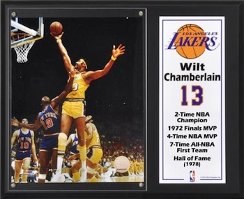 Wilt Chamberlain Los Angeles Lakers Framed Collage