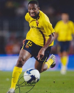 Yaya Toure FC Barcelona Signed Photo
