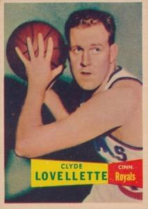 1957-58 Topps Clyde Lovellette RC #78
