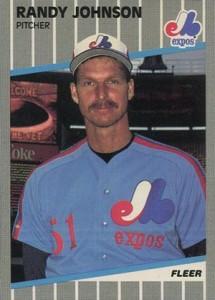 1989 Fleer Randy Johnson Marlboro