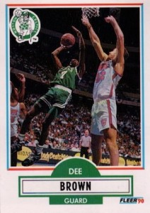 1990-91 Fleer Update Dee Brown RC #U6
