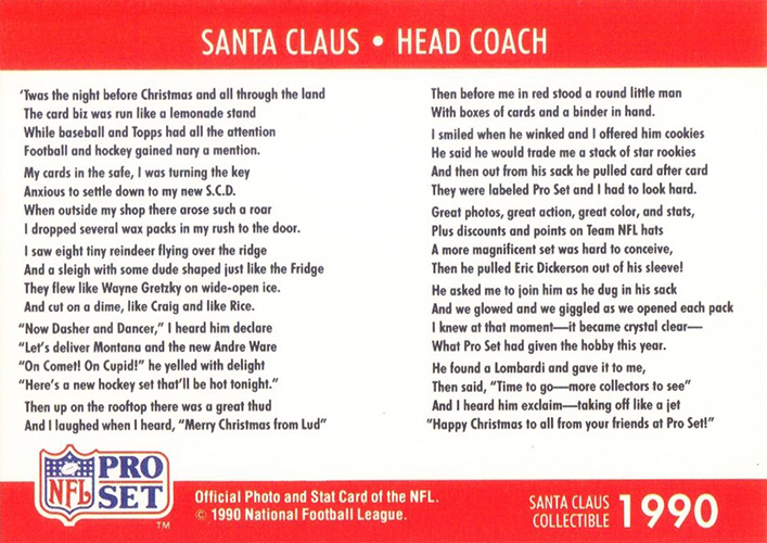 Pro Set Santa Claus Cards Continue to Bring Christmas Cheer 1