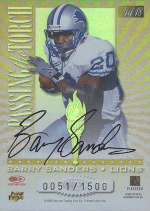Top Barry Sanders Cards of All-Time 17