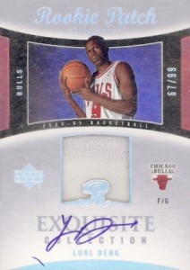 2004-05 Exquisite Luol Deng RC #89 Autographed Jersey