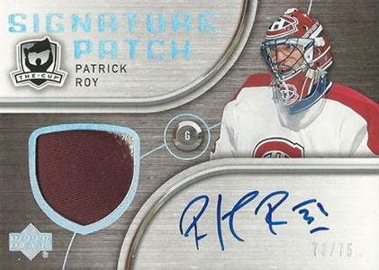 2005-06 UD The Cup Signature Patch Patrick Roy