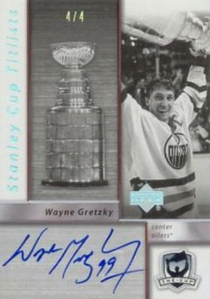 2005-06 UD The Cup Stanley Cup Titlists Wayne Gretzky