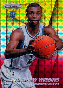 Andrew Wiggins Breaks Down the 2014-15 Panini Prizm Basketball Prizm Parallels 18