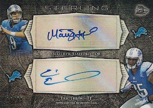 2014 Bowman Sterling Football Dual Autographs Stafford Ebron