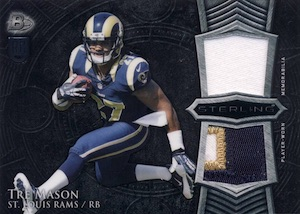 2014 Bowman Sterling Football Dual Relics Tre Mason