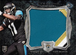 2014 Bowman Sterling Football Jumbo Relic Blue Wave Box Topper