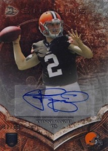 2014 Bowman Sterling Football SP Autograph Johnny Manziel