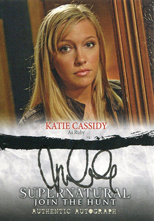 UPDATE - Did Katie Cassidy Use a Rubber Stamp on Her Supernatural Autograph Cards?  2