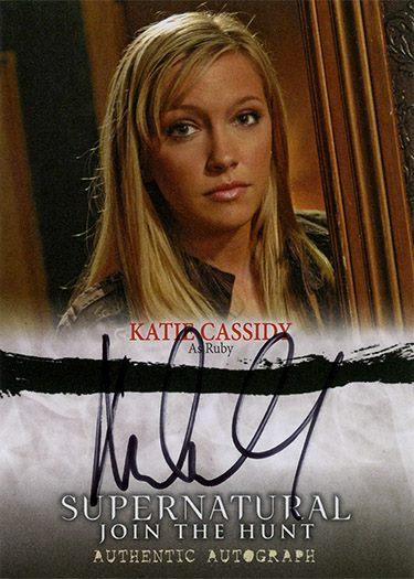 UPDATE - Did Katie Cassidy Use a Rubber Stamp on Her Supernatural Autograph Cards?  1