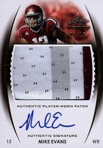 2014 Leaf Trinity Autographed Patch Mike Evans