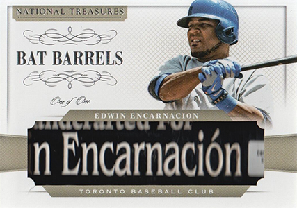 2014 National Treasures Bat Barrel Edwin Encarnacion