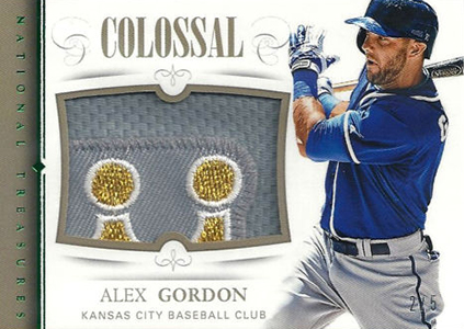 2014 National Treasures Colossal Alex Gordon