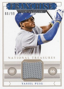 2014 National Treasures Franchise Jersey Yasiel Puig