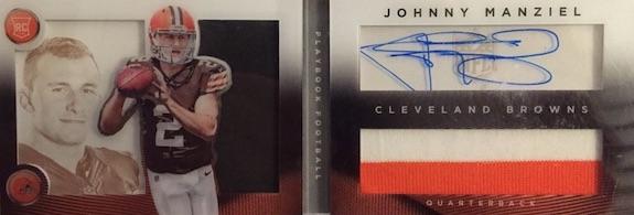 2014 Panini Playbook Johnny Manziel RC #175 Autographed Jersey