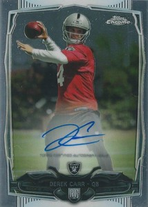2014 Topps Chrome Football Rookie Autographs 115 Derek Carr