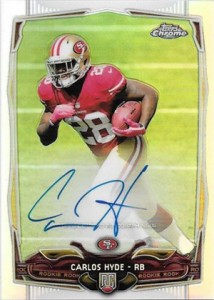 2014 Topps Chrome Football Rookie Autographs Guide 15