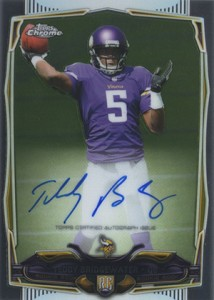 2014 Topps Chrome Football Rookie Autographs 173 Teddy Bridgewater