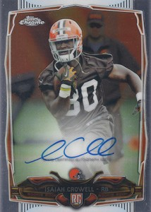2014 Topps Chrome Football Rookie Autographs 225 Isaiah Crowell