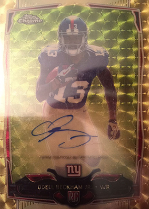2014 Topps Chrome Superfractor Odell Beckham Jr Autograph Surfaces, Sells 1