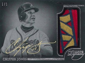 2014 Topps Dynasty Baseball Autographed Patches Parallel Chipper Jones